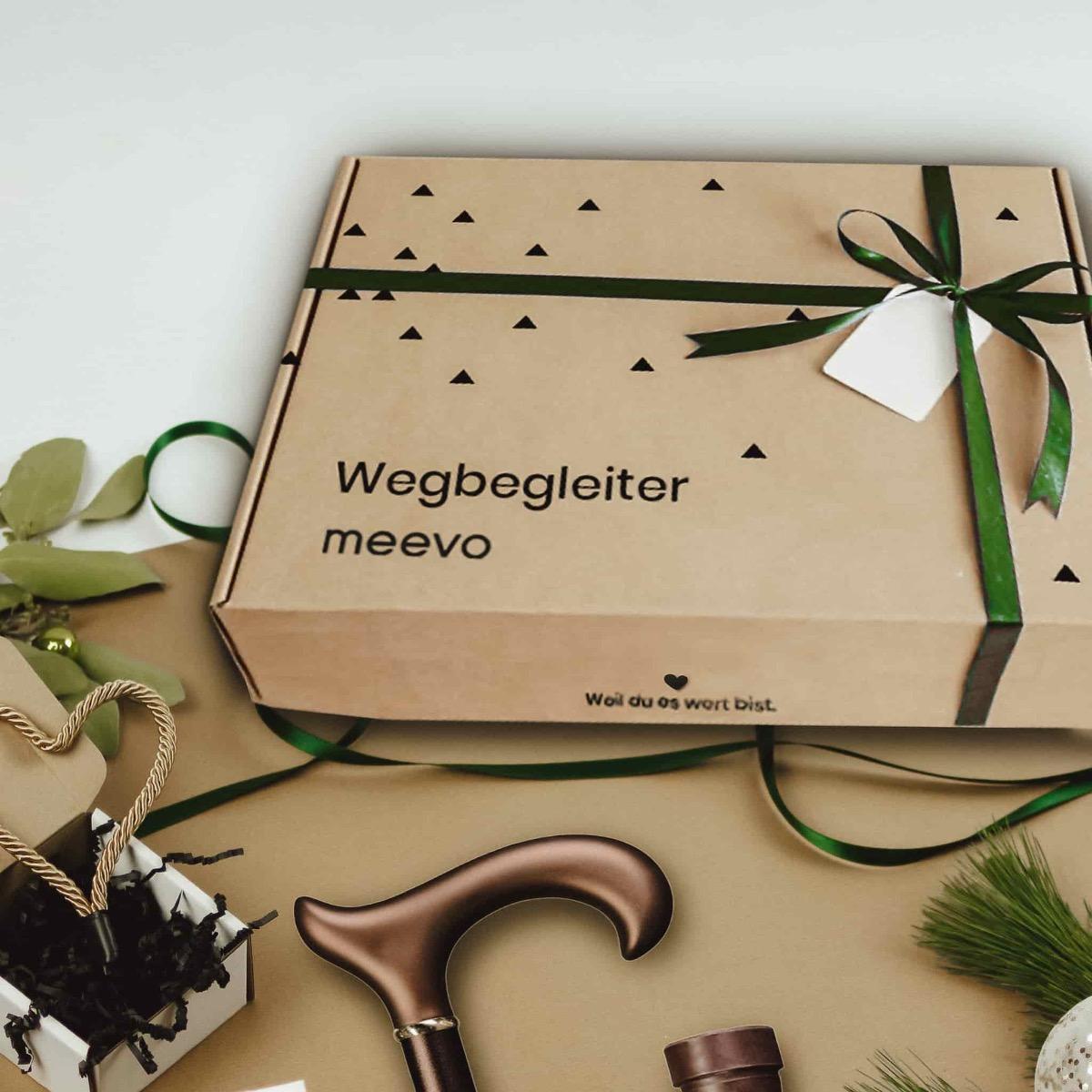 Geschenk-Set Wegbegleiter Gehstock